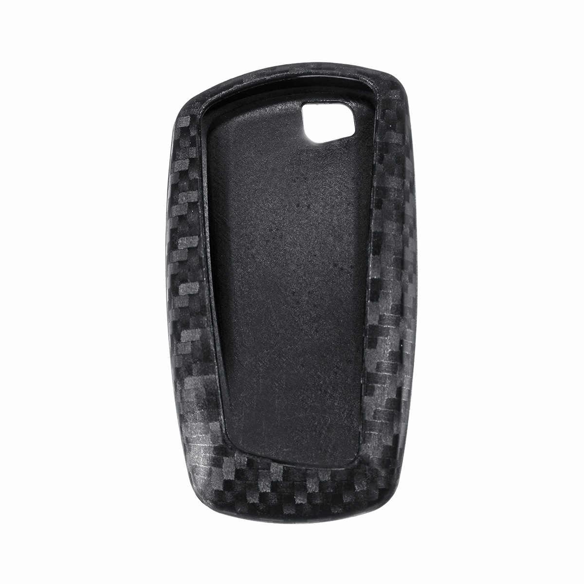 TPU عن مفتاح ذكي فوب غطاء حالة مفتاح السيارة قذيفة الكربون اللون ل BMW F05 F10 F20 F30 Z4 X1 X4 x5 X6 X7