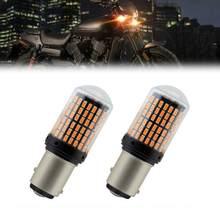 144SMD Canbus hiçbir hata Amber LED ön dönüş sinyal ışığı Harley Davidson için