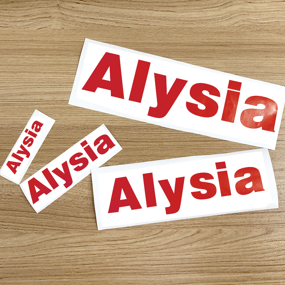 1Pcs Vinyl Custom Name Sticker Die Cut Red Personalised Label Matt PVC Waterproof Tags For Water Bottle Lanch Box Home Decor