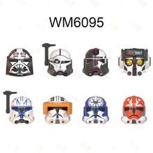 Wm6095 o clone wars clone força 99 wrecker crosshair hunter tecnologia figura de ação cabeças brinquedos moc blocos de construção crianças brinquedos presentes