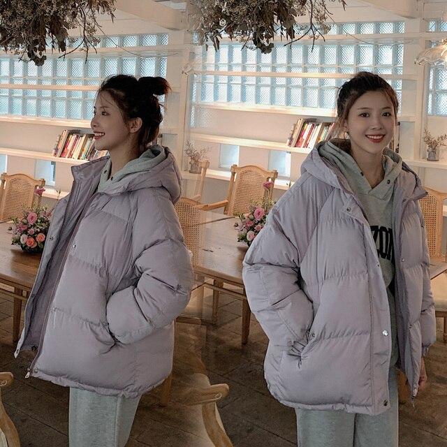 2020 nouvelles femmes Parkas veste mode solide épais chaud hiver à capuche veste manteau hiver parkas solide veste de survêtement 3