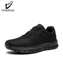 Vesonal 2019夏秋軽量ユニセックススニーカー男性靴カジュアルメッシュ通気性の快適な男性ウォーキング