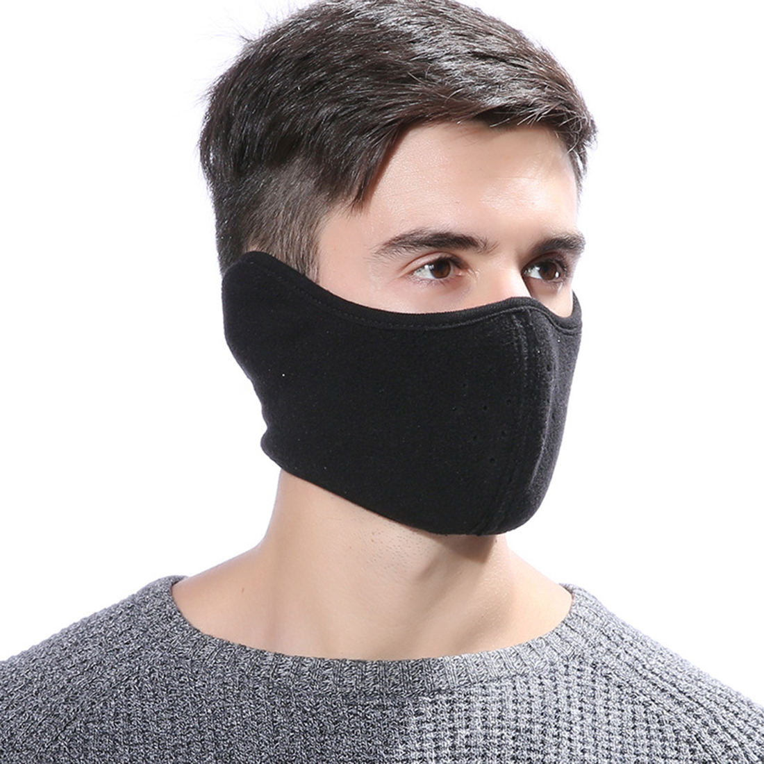 Winter Warm Unisex Thermal Breathable Respirators Outdoor Riding Cotton Velvet Masks Men Women Windproof Earmuffs Mouth-muffle