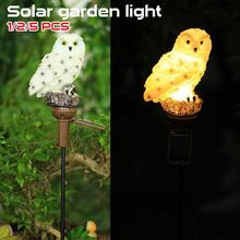 Owl Solar Light With Solar LED Panel Waterproof IP65 Outdoor Solar Powered Led Path Lawn Yard Garden Lamps Home Garden Decor solar powered bluetooth car earphone with panel magnetic charging for headset at home outdoor with softer