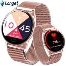 Longet K9 Smart Bracelet Fitness Tracker 1.22 inch Color Screen Steel Watchband Heart Rate Monitoring Sport Smartband men women