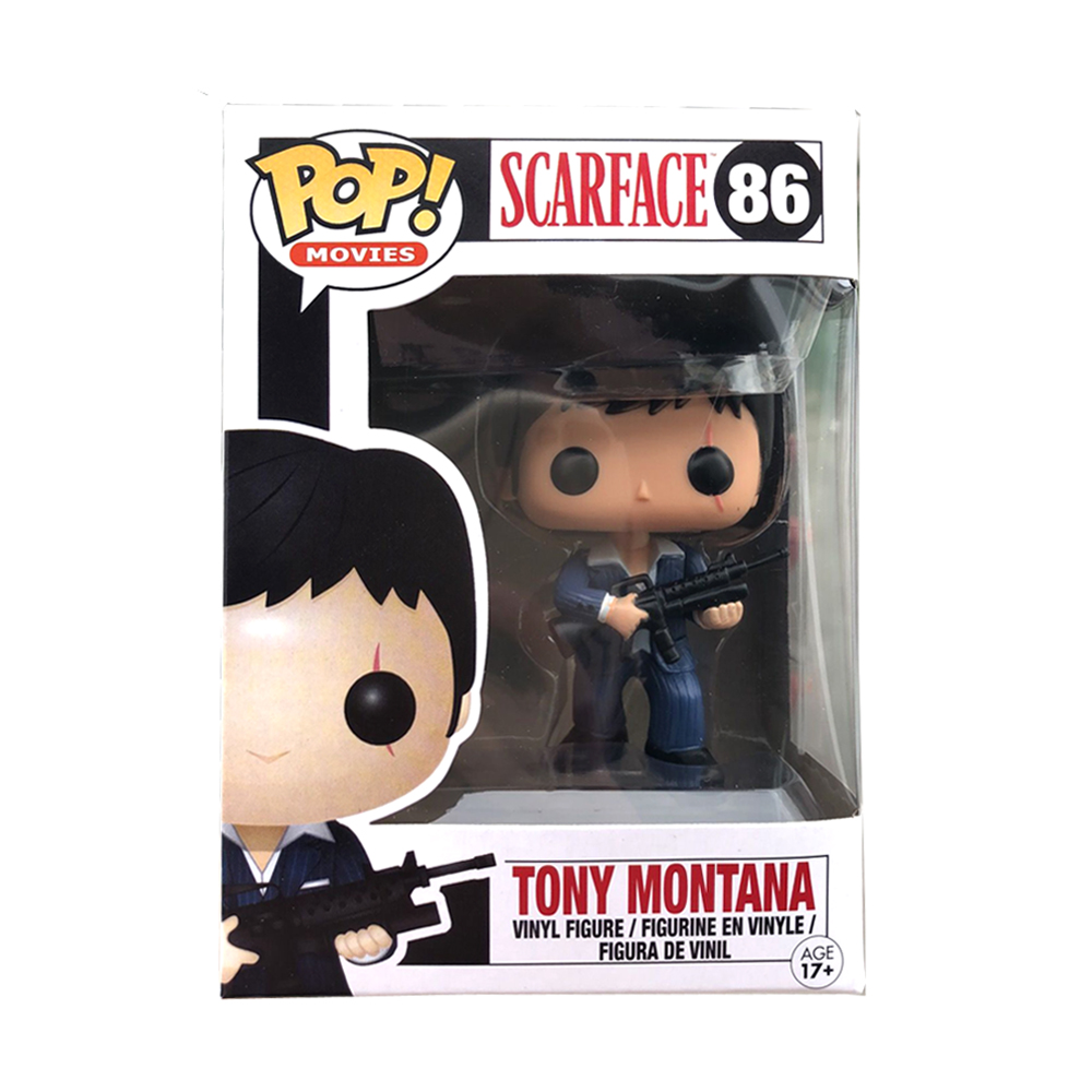 Funko POP Scarface Tony Montana Vinyl Action Figures Original Box Collection Model Toys For Birthday Party Gifts F100