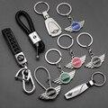 1 шт. 3D металлический + Плетеный автомобильный Стайлинг модный брелок для ключей брелок для BMW MINI Cooper Clubman R55 R56 R57 R58 R59 F54 R60