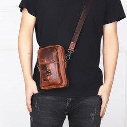 Leather Pocket Mens Crossbody Bag Mens Bag MENS Real-leather Bag Fashion And Personality Shoulder Bag
