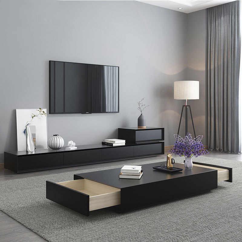 style table basse meuble tv unite noir
