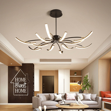 New Arrival Modern led ceiling lights for living room bedroom study white or black finished 110-204V lamp