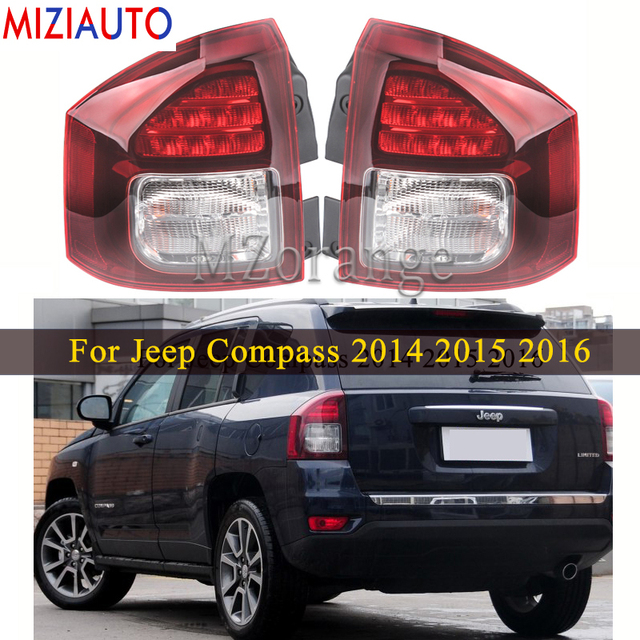 Rear Tail light For Jeep Compass 2014 2015 2016 Tail Stop Brake Warning Lights Car Parts Rear Turn Signal Fog Lamp Car Supplies