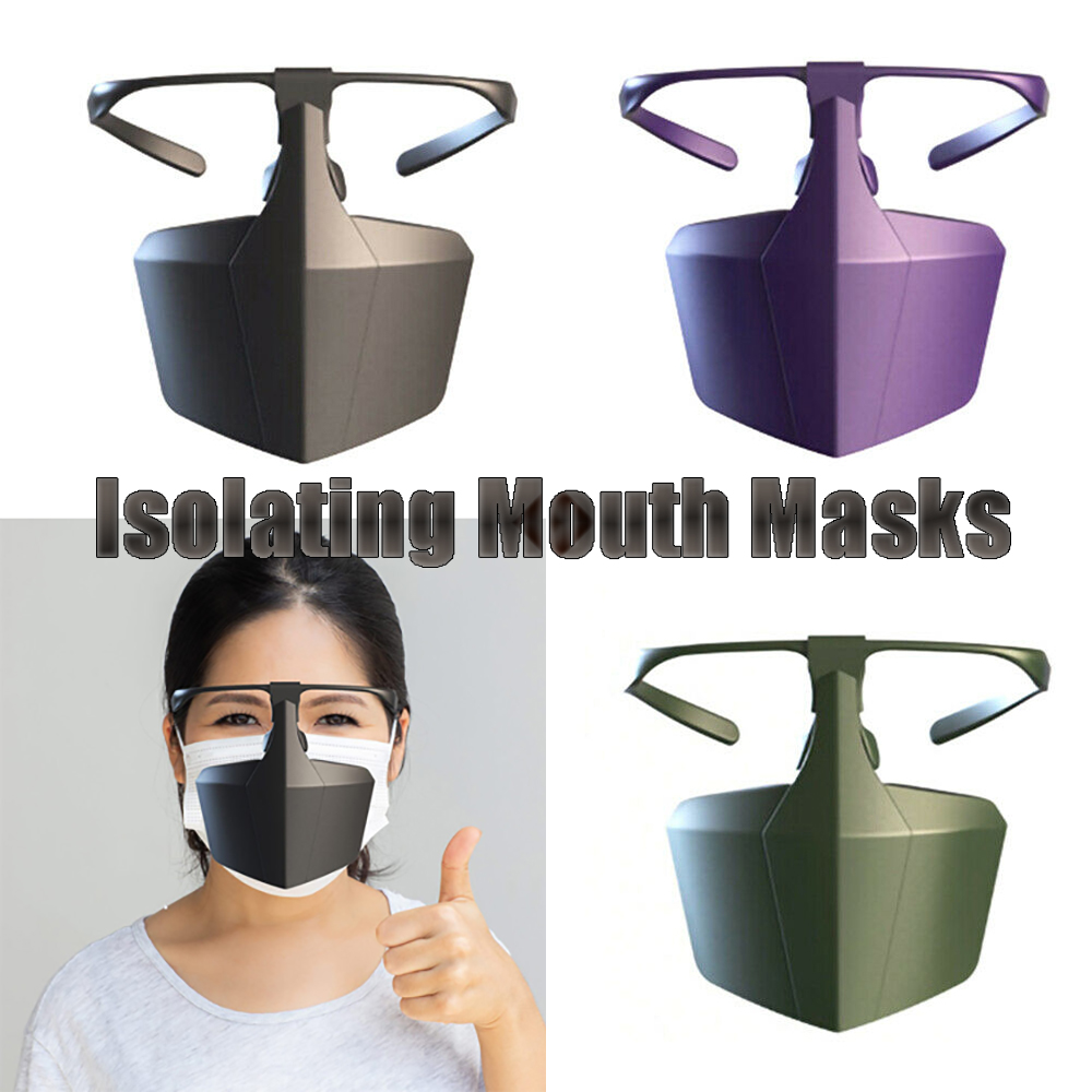 1 PC Protective Face Shield Mask PE Safety Anti-fog Anti-splash Filter Bacteria Mouth Masks Isolating Equipment Reusable