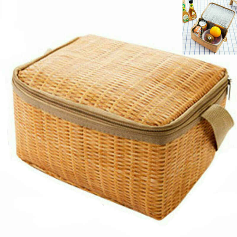 1pc Thermal Insulated Lunch Box Bento Food Container For Picnic Camping Travel