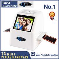 "Hohe Auflösung 22 MP 110 135 126KPK Super 8 Negative Foto Scanner 35mm Rutsche Film Scanner Digital Film Konverter 2,4 ""LCD"