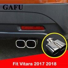 Decoração da capa de aço inoxidável para suzuki vitara 2018 dicas silenciador do escape cauda traseira tubo ponta extremidade guarnição acessórios