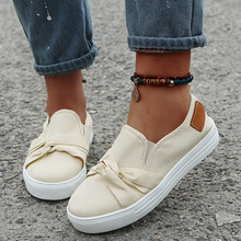 New Fashion Women Flat Shoes Canvas Solid Color Slip On Round Toe Ladies Shoes Casual Breathable Comfy Female Outdoor Footwear