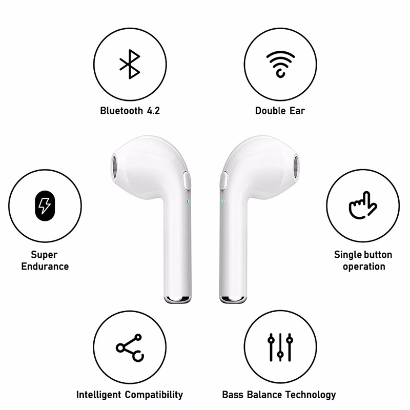Bluetooth Earphones With Charge Box For Samsung A50 Xiaomi Mi 9T Redmi 6A 6 Pro 7 7A Blackview A60 Umidigi A5 Pro Headphones (13)