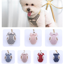 New Bow Type Polyester Dog Harness Vest 1.2m Rope No Pull Dog Harness Leash Set For Small Medium Dogs Cats French Bulldog