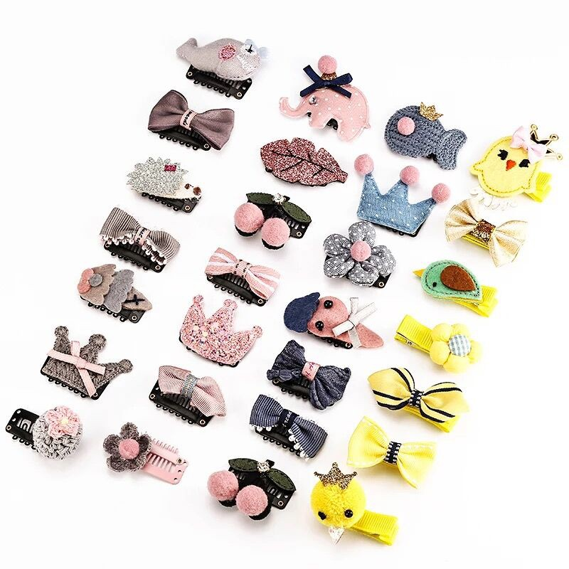 7 Types  Children\'s Fresh Hair Clip Sets Baby Girls Cute Hair Accessories  For Over 1 Years Bebe