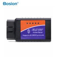 Bosion ULME 327 Bluetooth ELM327 OBDII / OBD2 Version Fahrzeug Diagnose Scanner Tool Reader Works Auf Android Schnelle lieferung 2020