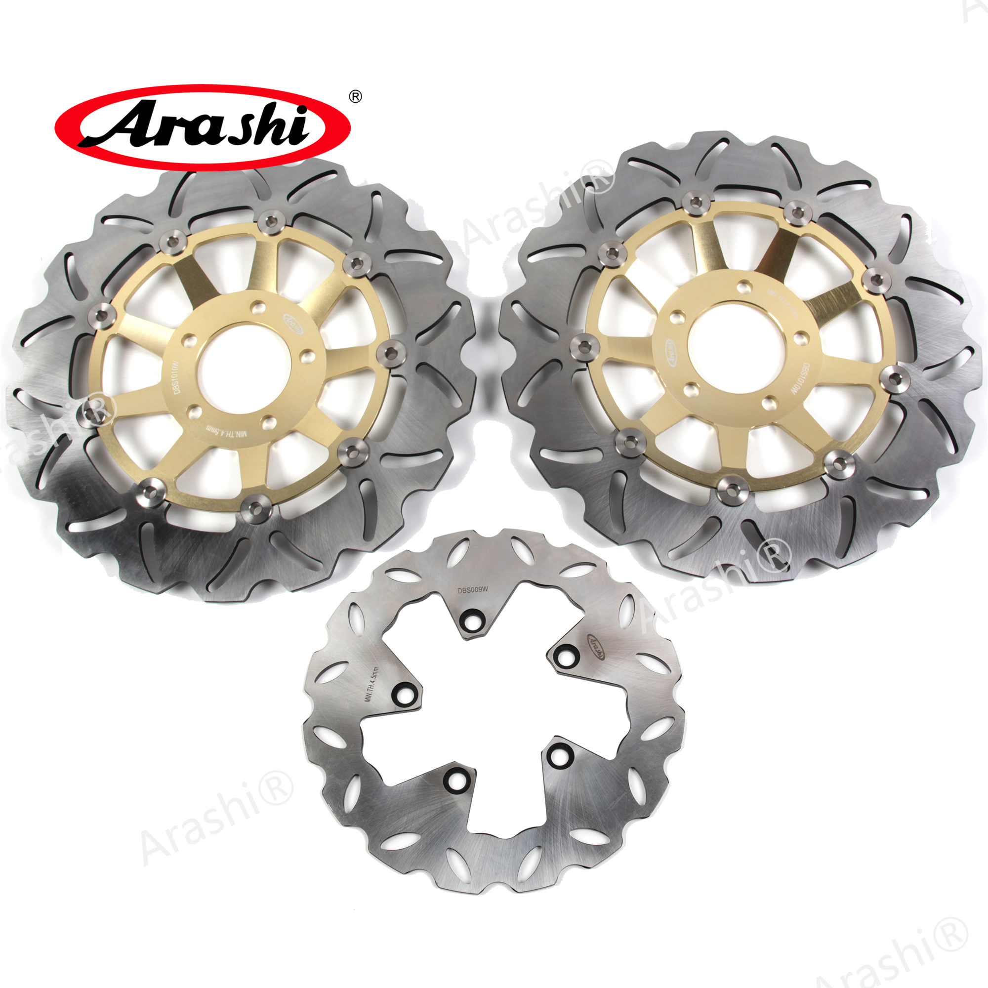 Arashi 1 Set 310 / 240 mm For SUZUKI GSF <font><b>BANDIT</b></font> <font><b>1200</b></font> 1996 - 2005 CNC Front Rear Brake Disc Brake Rotors <font><b>GSF1200</b></font> <font><b>BANDIT</b></font> 2002 2003 image
