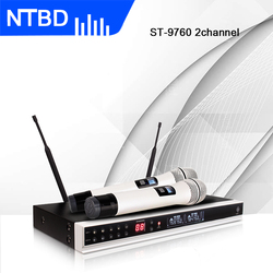 NTBD Sing Hip Hop Stage Performance Karaoke Wedding Church White Handheld ST-9760 UHF Professional Wireless Microphone Dynamic