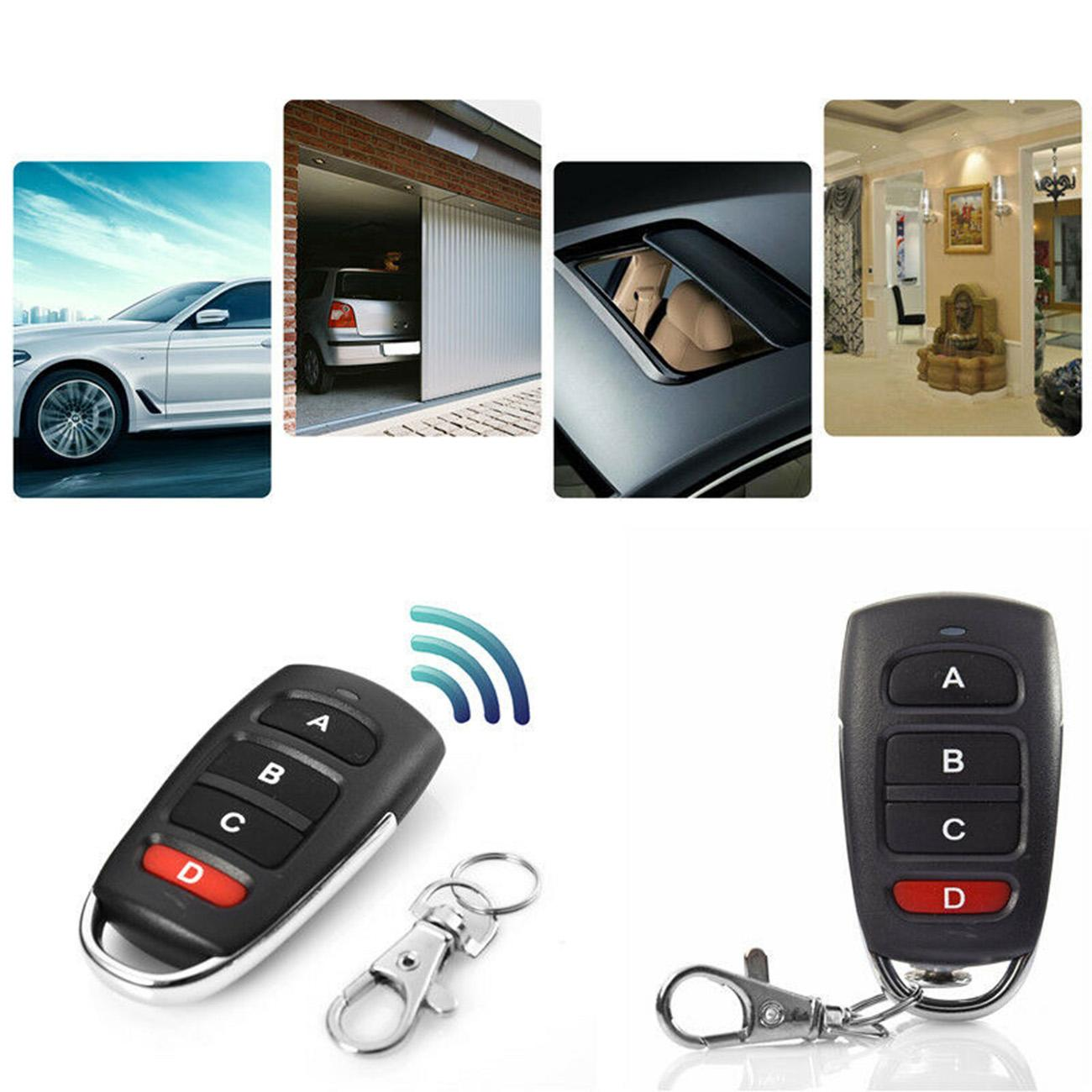 Universal 433mhz Wireless Electric Gate Garage Door Remote Control Key Fob Hand Transmitter Remotes Controller 4 Buttons
