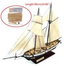 Yeni 1:130/100/70/30 yelkenli DIY gemi montajı Model klasik ahşap tekne dekorasyon ahşap