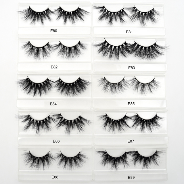 Visofree Eyelashes Mink Eyelashes Criss-cross Strands Cruelty Free 3D 25mm Lashes Mink Lashes Soft Dramatic Eyelashes E80 Makeup 3