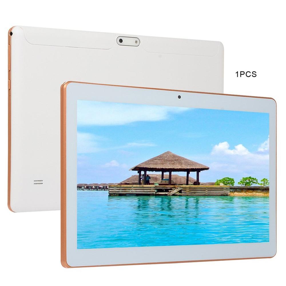 KT107 plastique tablette 10.1 pouces HD grand écran Android 8.10 Version mode Portable tablette 8G + 64G blanc tablette