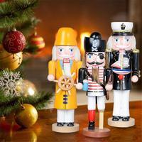 25CM Puppet Dekorative Ornamente Pirate Kapitän Naval Nussknacker Puppet Soldat Ornament Hause Dekoration Weihnachten Geschenke