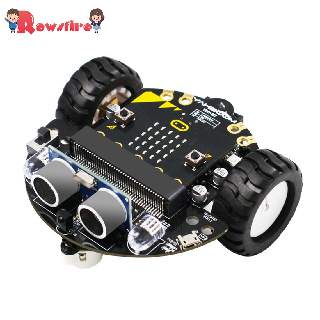DIY Obstacle Avoidance Smart Programmable Robot Car Educational Learning Kit With Mainboard For Micro:bit