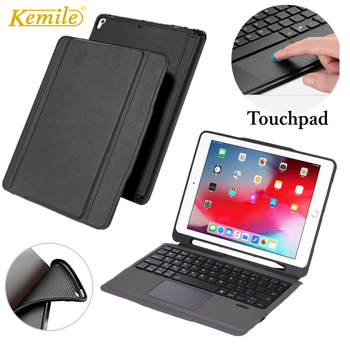 Case For iPad 7th 2019 10.2 funda touchpad keyboard W Pencil Holder Stand Cover For iPad 7th generation 2019 10.2 Case Keypad