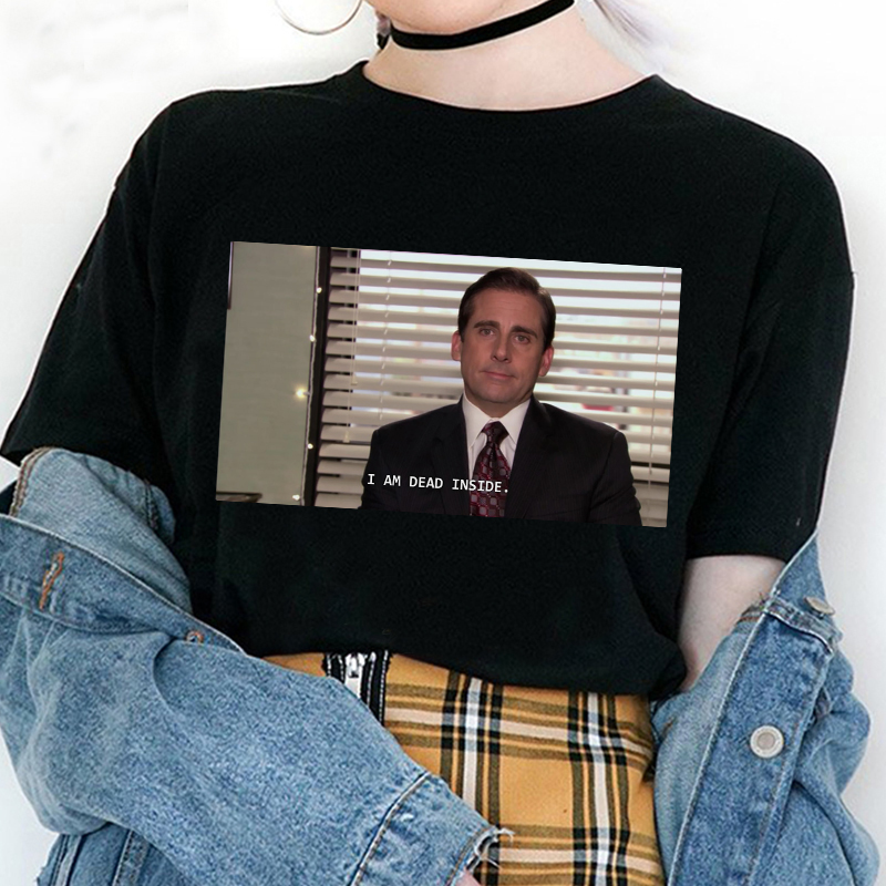 I Am A Fun T-shirt Office Michael Scott Printed Short-sleeved Shirt Retro Style Fashion Harajuku Summer Casual Loose T-shirt