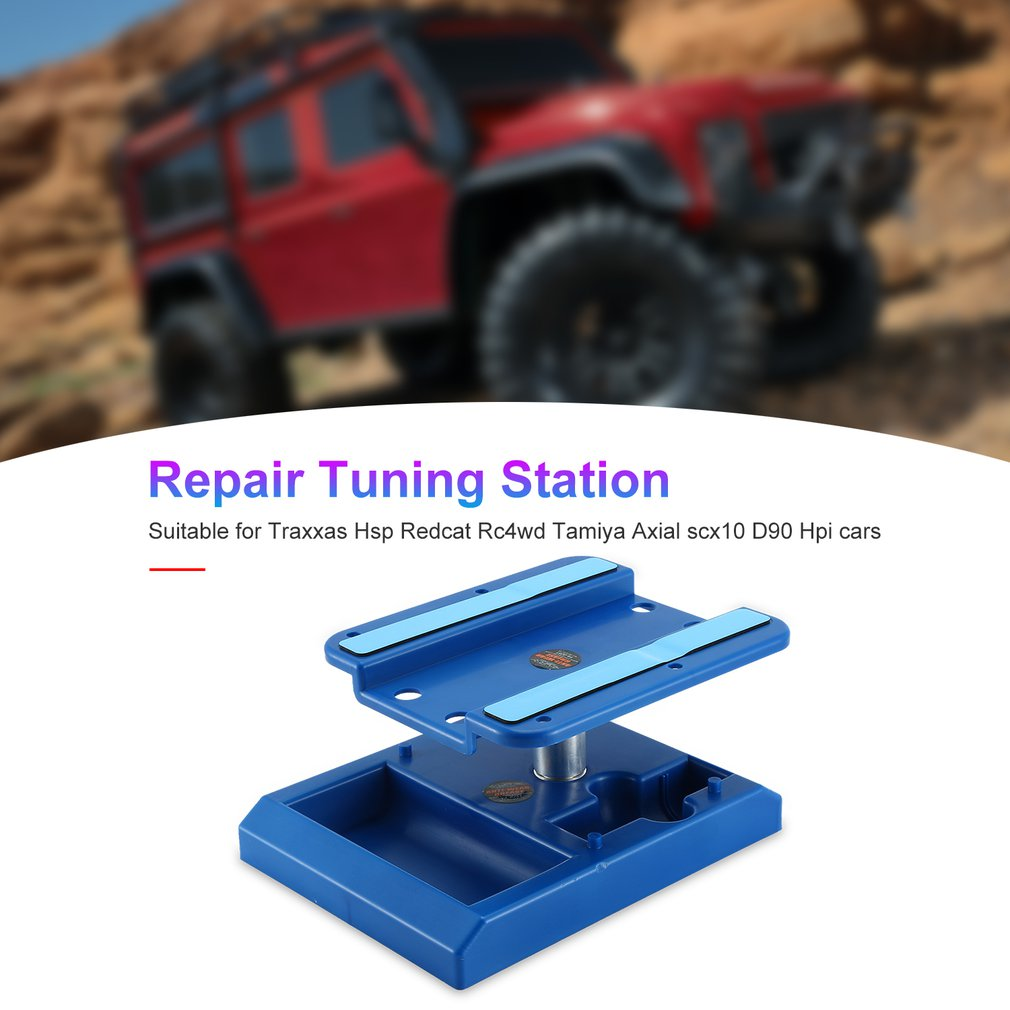 Alloy Metal Model Repair Station Work Stand Rotate for 1//10 1//8 Tamiya SCX10 HSP