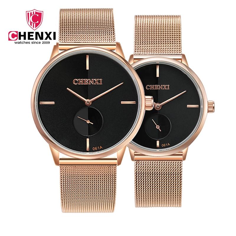 High Quality Waterproof Quartz Watch Ultra-thin Couple Watch Men's Wholesale Fashion Ladies Watch Mesh Belt