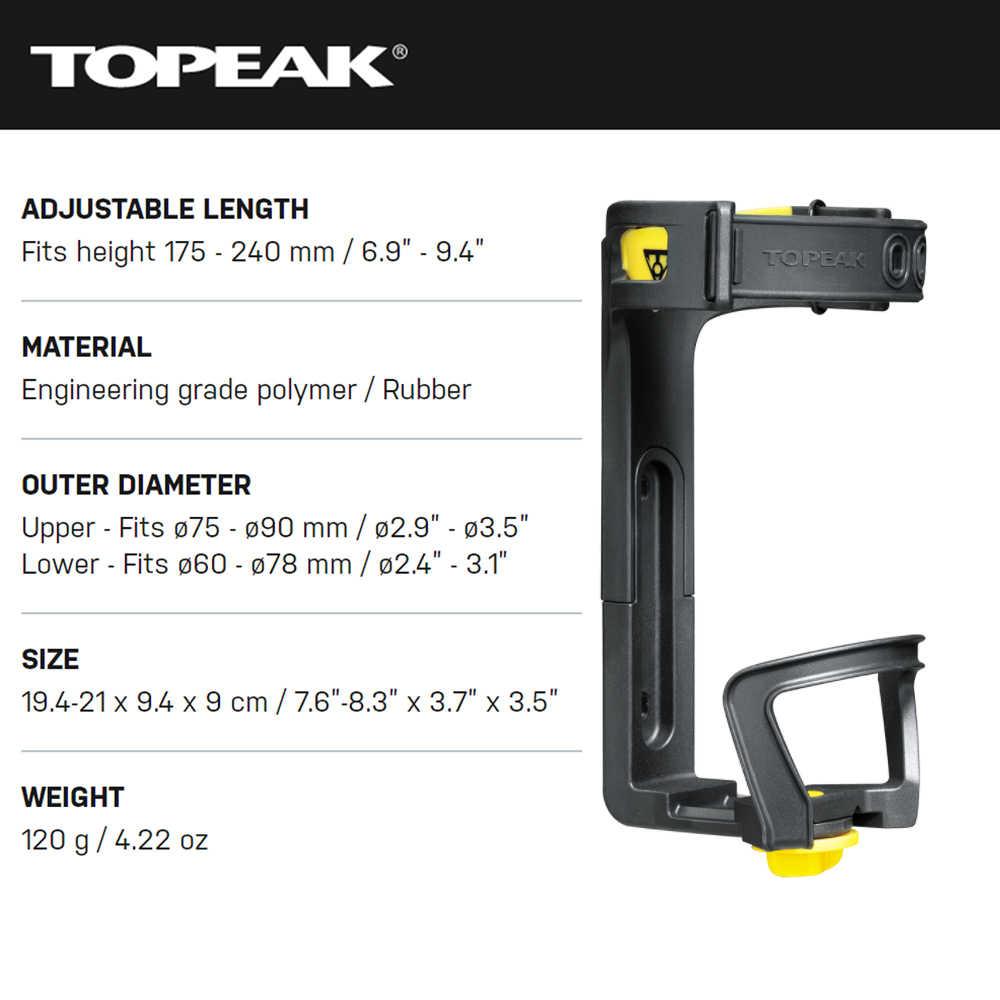 Topeak Jaune Cage EX l/'eau réglable Porte-bouteille 51-73 mm