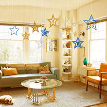 7pcs Twinkle Star Paper Garland Banner Happy Birthday Party Decorations Boy Girl Baby Shower Decor Rose Gold Wedding Decoration(China)