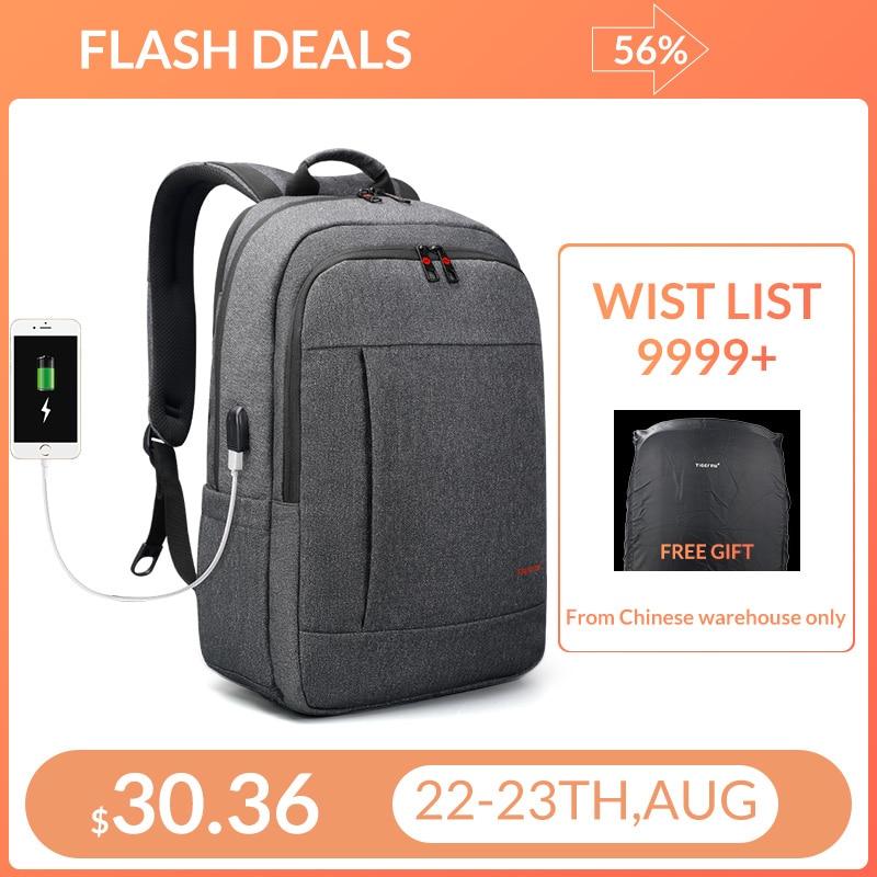 Bagpack Tigernu Anti ladrão USB 15.6 para 17 polegada laptop mochila para Mulheres Homens Mochila escolar Saco de Viagem Masculino Feminino