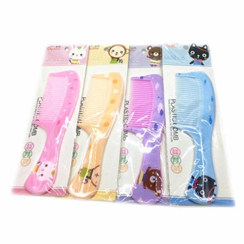 Cartoon Baby Massage Comb Random Color Kids Plastic Handle Comb Boys Girls Hair Care Anti-static Prevent Hair Knotting Hairbrush