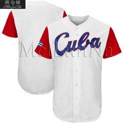 Camisetas de béisbol Cuba 2017 Clásico Mundial de secado rápido Flexible Jersey