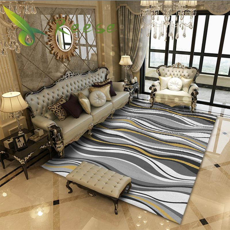 New Accurate Color Geometric Floral Decoration Soft Carpets Rug Living Room Wood Floor Antifouling Carpet For Bedroom Parlor