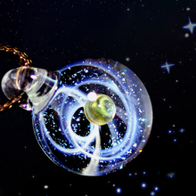 Shine Universe Glass Bead Planets Pendant Necklace Galaxy Rope Chain Solar System Design Necklace for Women Gift dropship 2019 new dream nice nebula necklace various galaxy space pattern glass alloy necklace pendant solar system popular jewelry