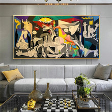 Picasso canvases, copies of famous oil paintings Guernica art posters and prints Picasso paintings for home wall decorations