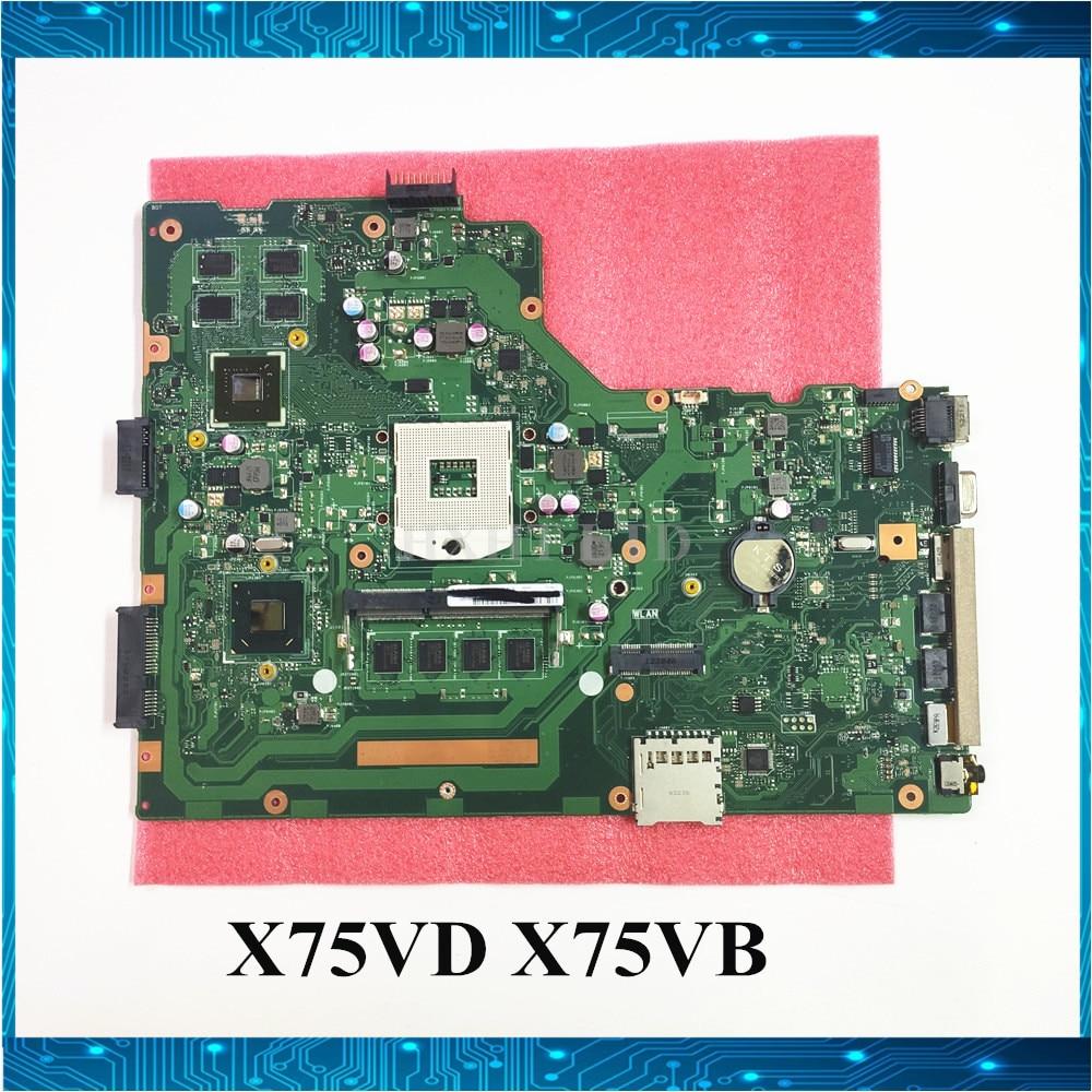 Motherboard For ASUS X75VB X75V X75VB X75VC X75VD REV2.0 GT610M Mainboard HM76