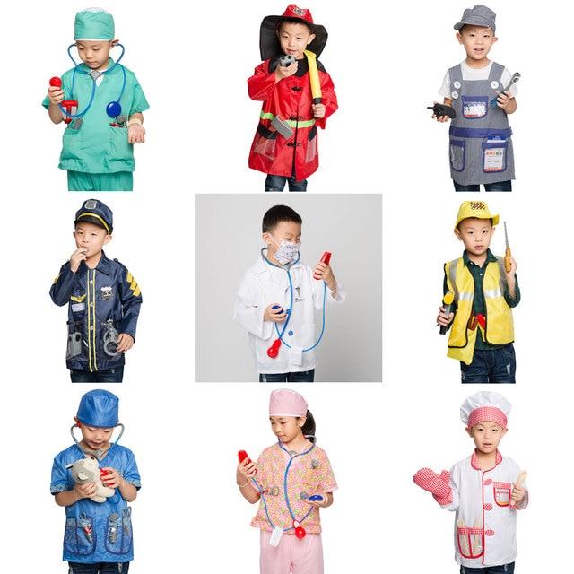 Umorden Disfraz de astronauta para niños, Doctor, enfermera, bombero, juego de rol, conjunto para niños y niñas, vestido de fiesta de fantasía