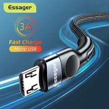 Essager Micro USB Kabel 3A Schnelle Lade Ladegerät Microusb Draht Kabel Für Samsung Xiaomi Redmi Android Handy Daten Kabel 2M