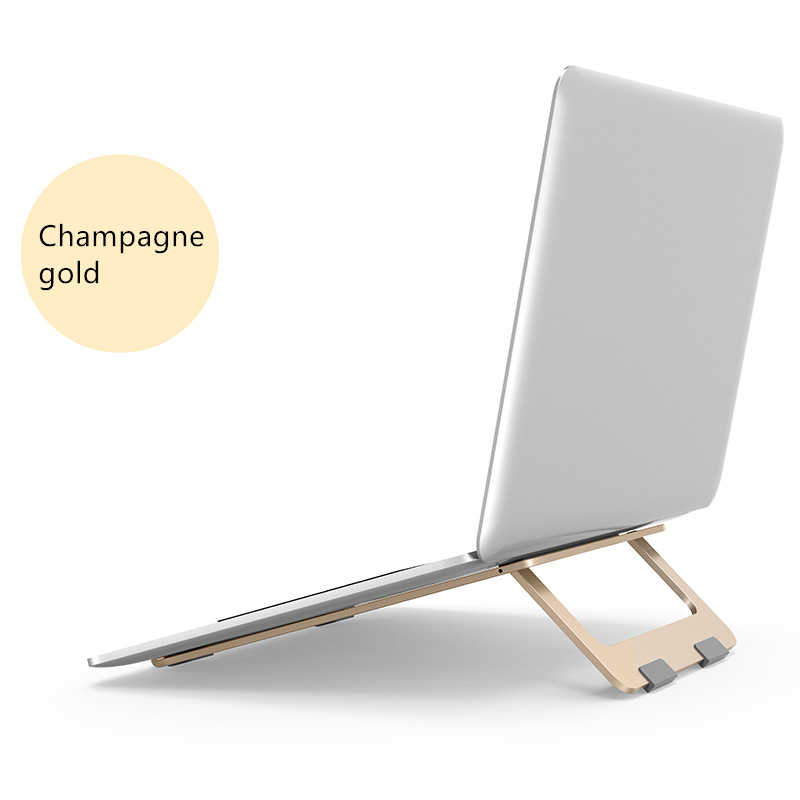 Laptop Opvouwbare Stand Aluminium Verstelbare Desktop Tablet Houder Bureau Tafel Mobiele Telefoon Stand Voor iPad Macbook Pro Air Notebook