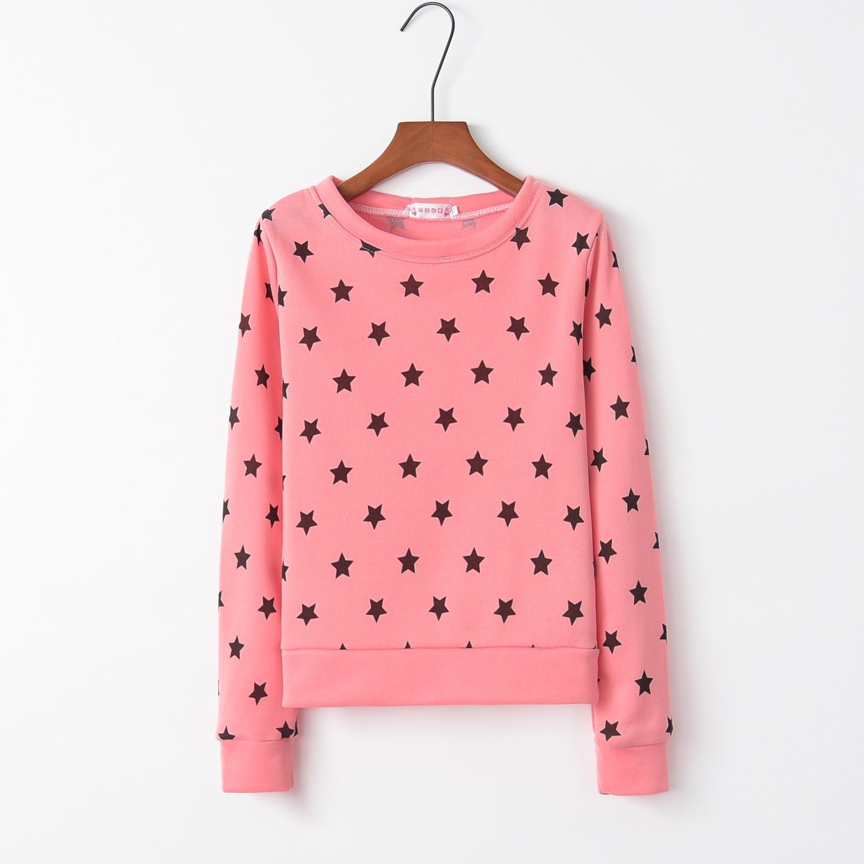 Stars Pink Cute 2020 New Design Hot Sale Hoodies Sweatshirts Women Casual Kawaii Harajuku Sweat Girls European Tops Korean