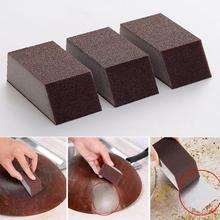 3pcs Magic Sponge Brush Aluminum Oxide Emery Rust Dirt Stains Clean Bowl Washing Pot Home Kitchen Cleaning